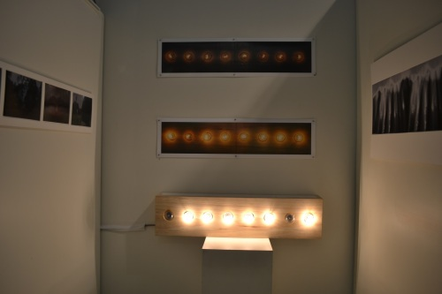 LINEAR – Kim Sellwood. The lightbox titled Elicited represents the concept of emotion in the world through flashing lights. With some bulbs flashing on and off, being that one person could be emotionally well, but can turn off just as the next person has an opposite reaction.